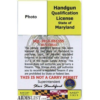 maryland concealed weapons permit application
