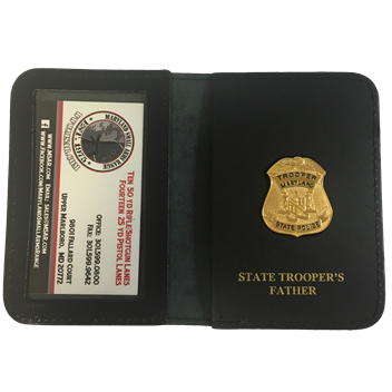 MD State Trooper Family Badge & Wallet